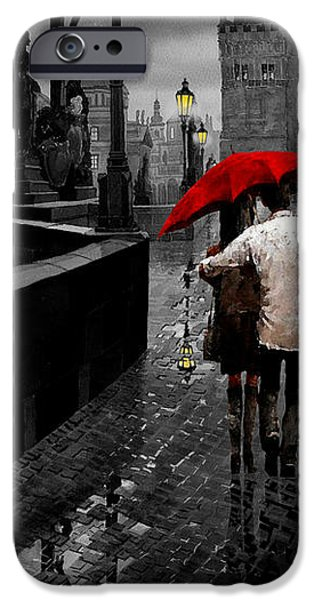 Red Umbrella 2 IPhone Case by Yuriy Shevchuk