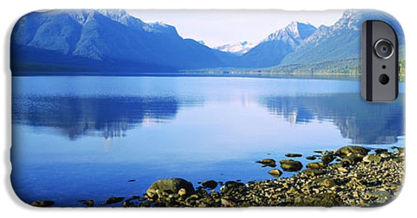 Reflection Of Rocks In A Lake, Mcdonald IPhone Case by Panoramic Images