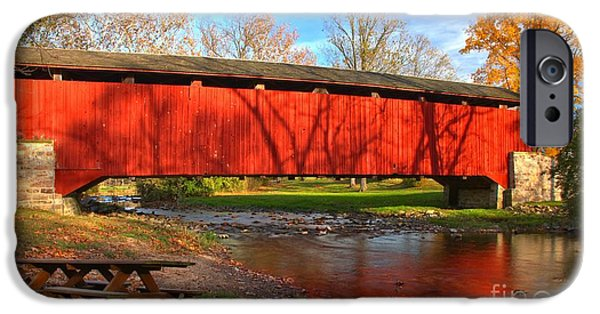 Reflections In The Conestoga River IPhone Case by Adam Jewell