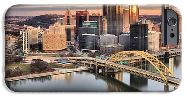 Reflections Of Pittsburgh Pennsylvania IPhone Case by Adam Jewell