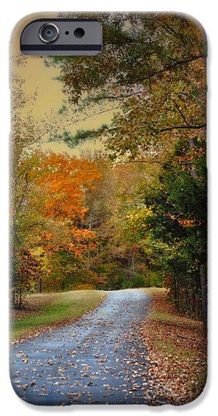 Rekindled Spirit - Autumn Landscape Scene IPhone Case by Jai Johnson