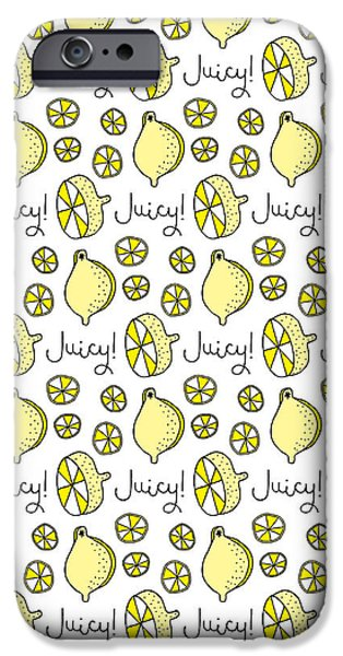 Repeat Prtin - Juicy Lemon IPhone 6s Case by Susan Claire