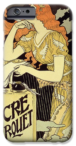 Reproduction Of A Poster Advertising 'marquet Ink' IPhone Case by Eugene Grasset