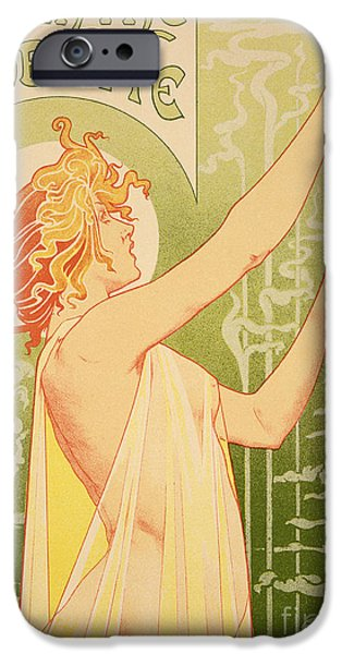 Reproduction Of A Poster Advertising 'robette Absinthe' IPhone Case by Livemont