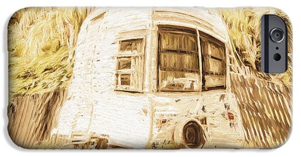 Retrod The Comic Caravan IPhone Case by Jorgo Photography - Wall Art Gallery