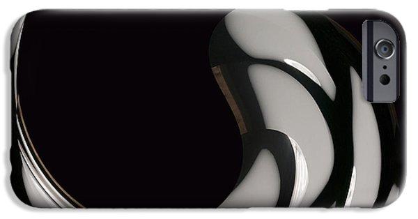 Reverse Yin Yang IPhone Case by Cheryl Young