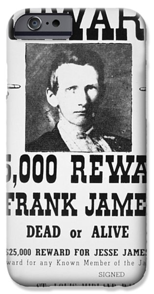 Reward Poster For Frank James IPhone Case by American School