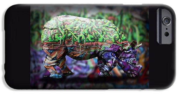 Rhino4 IPhone Case by Mark Ashkenazi