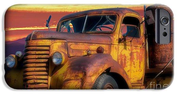 Riding Into The Arizona Sunset IPhone Case by Henry Kowalski