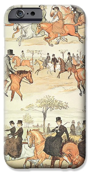Riding Side-saddle IPhone Case by Randolph Caldecott