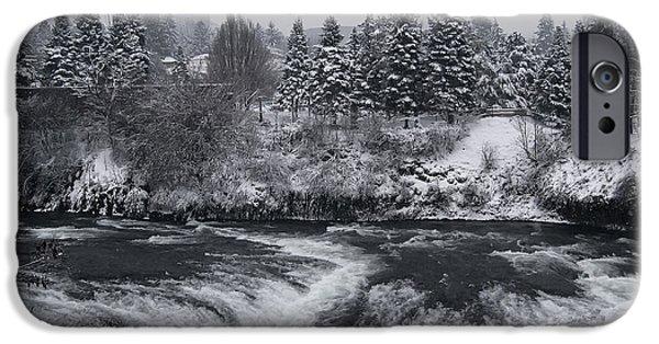Riverfront Park Winter Storm - Spokane Washington IPhone Case by Daniel Hagerman
