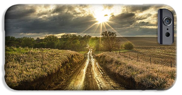 Road To Nowhere IPhone Case by Aaron J Groen
