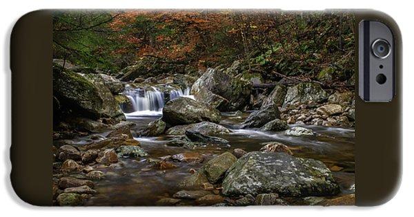 Roaring Brook - Sunderland Vermont Autumn Scene  IPhone Case by Thomas Schoeller