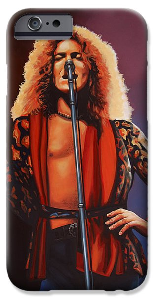 Robert Plant Of Led Zeppelin IPhone 6s Case by Paul Meijering