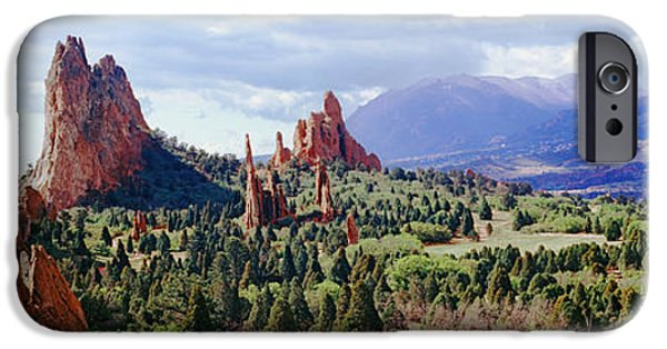 Rock Formations On A Landscape, Garden IPhone Case by Panoramic Images