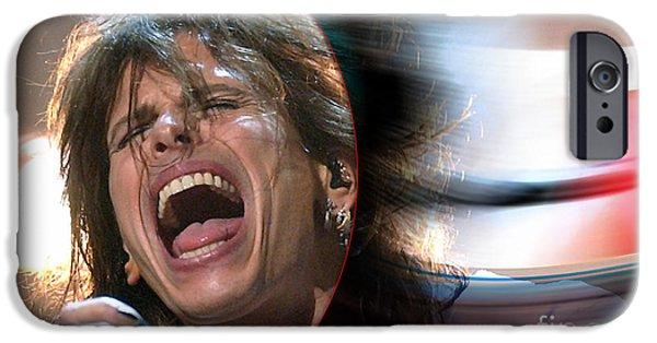 Rock N Roll Steven Tyler IPhone 6s Case by Marvin Blaine