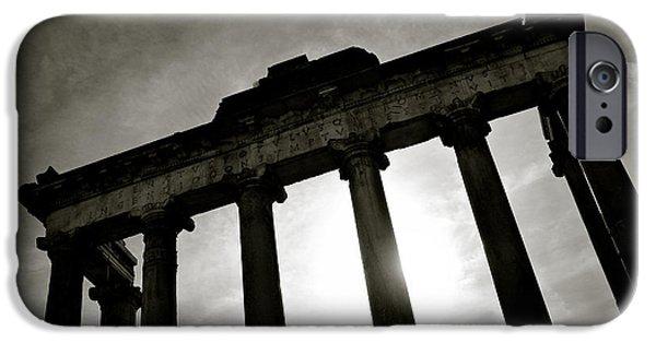 Roman Forum IPhone Case by Dave Bowman