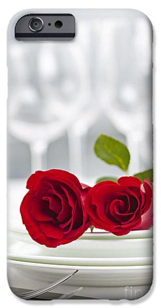 Romantic Dinner Setting IPhone Case by Elena Elisseeva