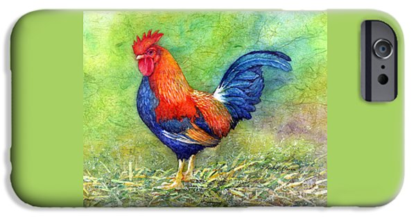 Rooster  IPhone Case by Hailey E Herrera