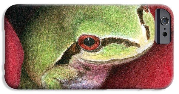 Rose Frog IPhone Case by Pat Erickson
