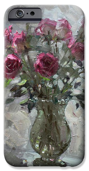 Roses For Viola IPhone Case by Ylli Haruni