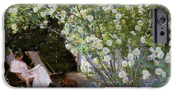 Roses IPhone Case by Peder Severin Kroyer