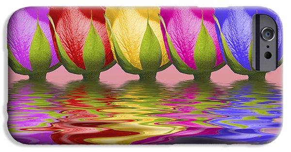 Roses Rising IPhone Case by Tom Mc Nemar