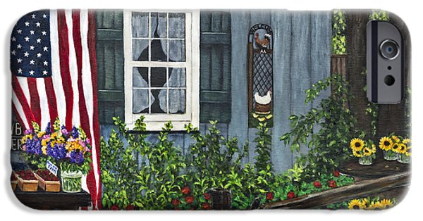 Round Swamp Farm By Alison Tave IPhone Case by Sheldon Kralstein