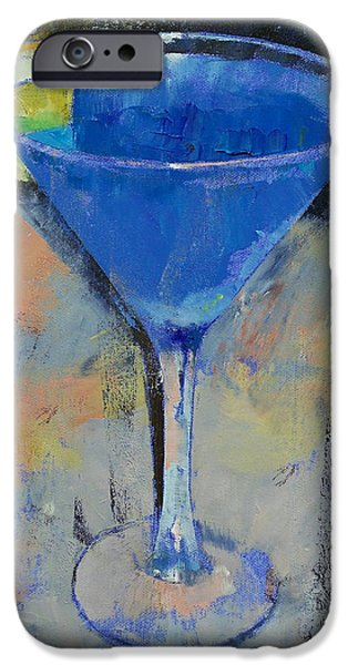 Royal Blue Martini IPhone 6s Case by Michael Creese