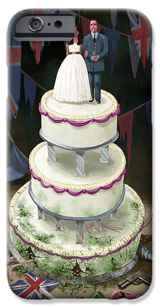 Royal Wedding 2011 Cake IPhone Case by Martin Davey