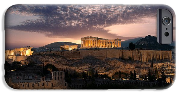 Ruins Of A Temple, Athens, Attica IPhone Case by Panoramic Images