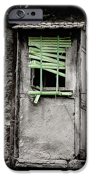 Run Down Part Of Building In Lazio With Broken Venetian Blind At IPhone Case by Peter Noyce