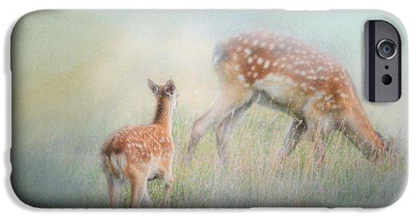 Running To Papa - Baby Deer IPhone 6s Case by Jai Johnson