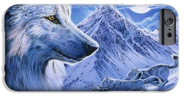 Running With The Pack IPhone Case by Robin Koni