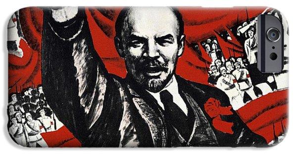 Russian Revolution October 1917 Vladimir Ilyich Lenin Ulyanov  1870 1924 Russian Revolutionary IPhone Case by Anonymous