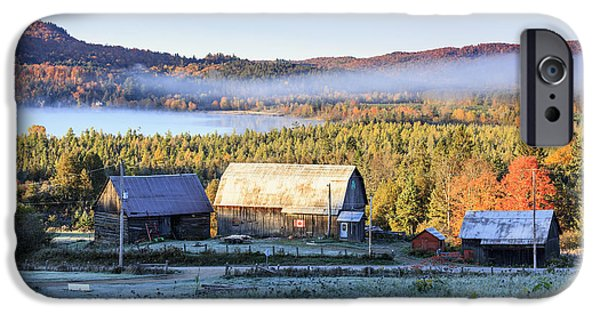 Rustic Buildings And Barn Among Autumn IPhone Case by Yves Marcoux