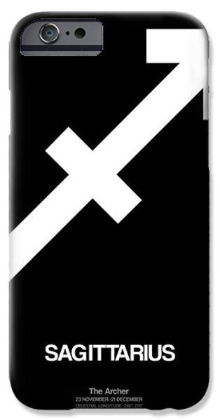 Sagittarius Zodiac Sign White IPhone Case by Naxart Studio