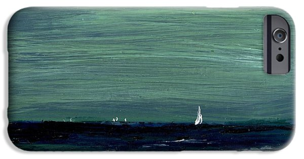 Sailboats Across A Rough Surf Ventura IPhone Case by Cathy Peterson