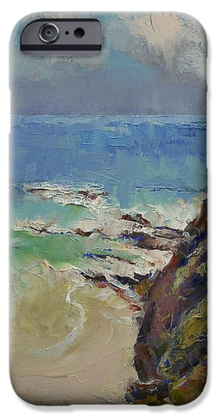 Sailing Off The Cove IPhone Case by Michael Creese