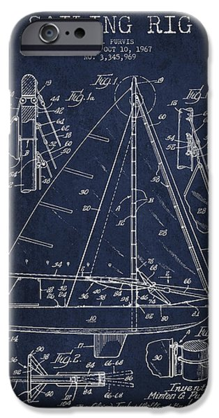 Sailing Rig Patent Drawing From 1967 IPhone Case by Aged Pixel