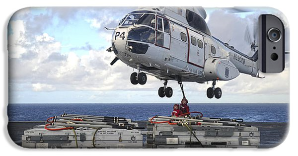 Sailors  Attach Cargo Legs To An Sa330j IPhone Case by Stocktrek Images