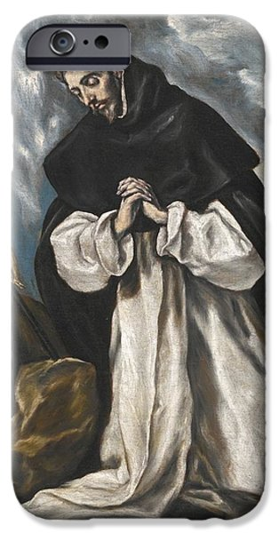 Saint Dominic In Prayer IPhone Case by Celestial Images