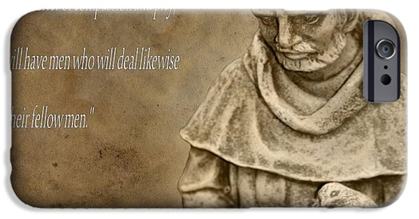 Saint Francis Of Assisi IPhone Case by Dan Sproul