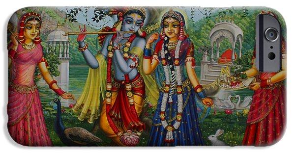Sakhi Yugal IPhone Case by Vrindavan Das