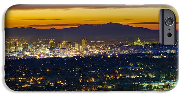 Salt Lake City At Dusk IPhone 6s Case by James Udall