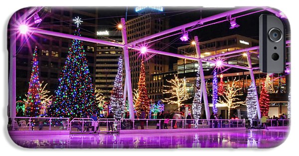 Salt Lake City - Skating Rink - 2 IPhone Case by Ely Arsha