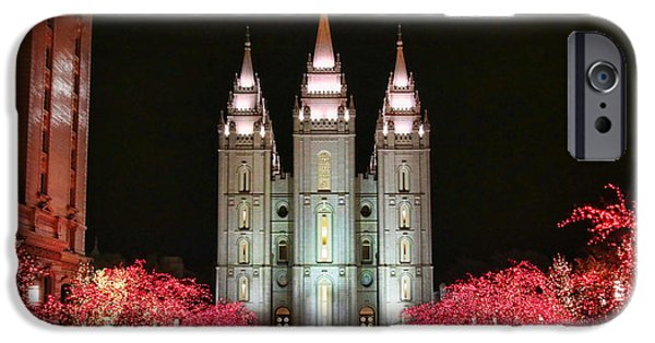Salt Lake Temple - 1 IPhone Case by Ely Arsha