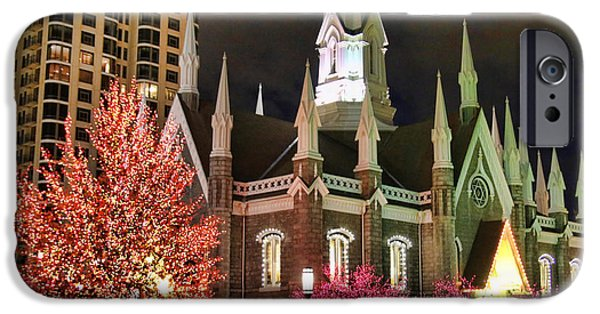 Salt Lake Temple - 3 IPhone Case by Ely Arsha