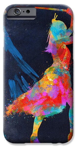 Samurai Girl Way Of The Warrior IPhone Case by Nikki Marie Smith