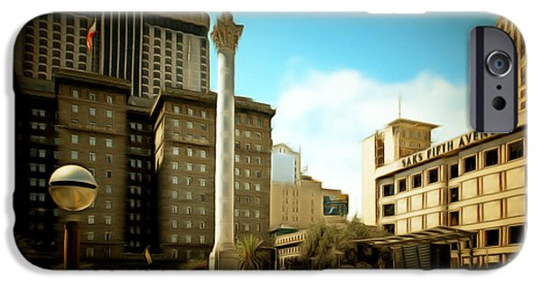 San Francisco Union Square 5d17933brun IPhone Case by Wingsdomain Art and Photography
